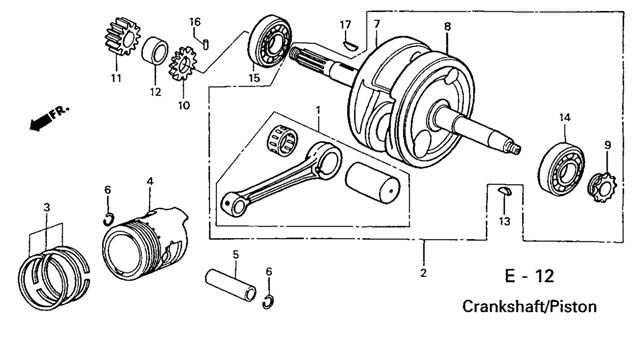 E 12 Crankshaft/Piston