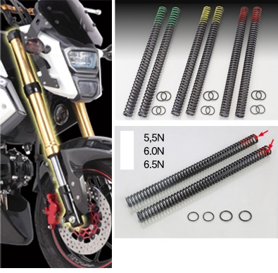 Kitaco Fork Spring kit stronger,Monkey 125